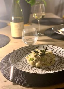 dressage risotto aux asperges