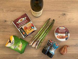 Ingrédients pour risotto aux asperges